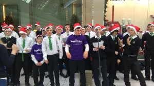 Tys raised €500 for Temple Street Children's Hospital  carol singing n Blanchardstown Shopping Centre.